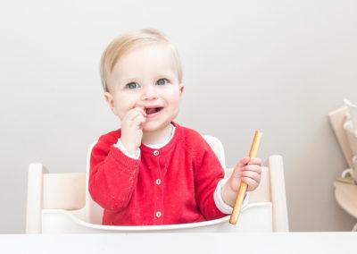 KDV Rivierenbuurt meisje soepstengel
